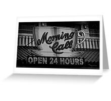 Morning Call Cafe Greeting Card