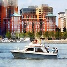 Maryland - Cabin Cruiser by Baltimore Skyline by Susan Savad