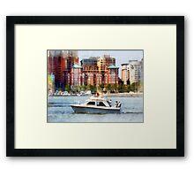 Maryland - Cabin Cruiser by Baltimore Skyline Framed Print