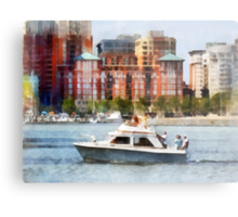 Maryland - Cabin Cruiser by Baltimore Skyline Metal Print