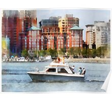 Maryland - Cabin Cruiser by Baltimore Skyline Poster
