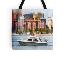 Maryland - Cabin Cruiser by Baltimore Skyline Tote Bag
