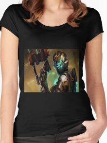 Dead Space - Isaac Clarke Concept Art Screen Women's Fitted Scoop T-Shirt