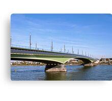 Kennedy Bridge in Bonn, Germany Canvas Print