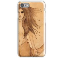 Sea Witch - tea and ink illustration iPhone Case/Skin