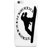 HIGHRISk snowboard  white iPhone Case/Skin