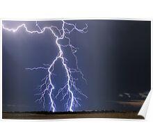 Lightning near Parrakie, SA Poster