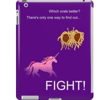 Invisible Pink Unicorn vs Flying Spaghetti Monster (dark) iPad Case/Skin