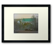 Farm and Field at Rest Framed Print