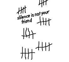 Silence is not your friend by KirbyKoolAid
