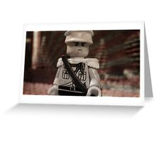 Lego Japanese Soldier Greeting Card