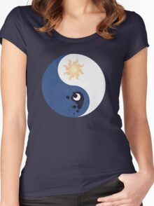 Celestia and Luna Yin Yang Women's Fitted Scoop T-Shirt