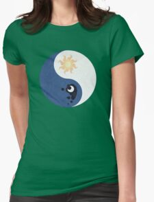 Celestia and Luna Yin Yang Womens Fitted T-Shirt