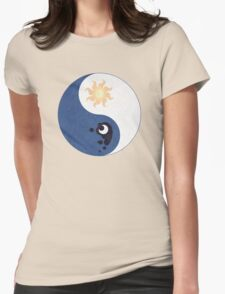 Celestia and Luna Yin Yang Womens Fitted T-Shirt