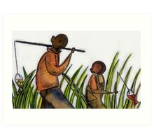 Just Fishing Art Print