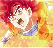 Super saiyan god Goku by JRDELIZER