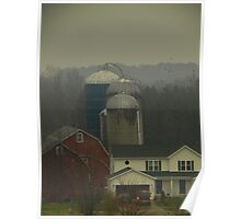 Election Day 2012: Rural Red, White, and Blue Poster