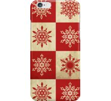 Snowflakes in Squares iPhone Case/Skin