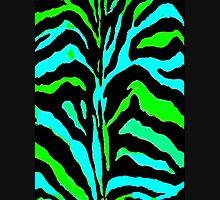 """Digital Zebra Green"" Zipped Hoodie"