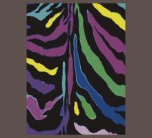"""Digital Zebra Multicolor"" by Chip Fatula T-Shirt"