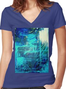 """The Ocean Lovers"" Women's Fitted V-Neck T-Shirt"