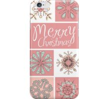 Merry Christmas in Pastel Pinks iPhone Case/Skin