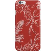 Fir, Mistletoe and Holly for Christmas iPhone Case/Skin