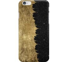Faux Gold & Black Starry Night Brushstrokes iPhone Case/Skin