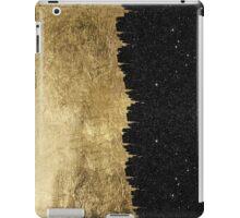 Faux Gold & Black Starry Night Brushstrokes iPad Case/Skin