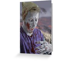 Self Portrait As A Zombie Greeting Card