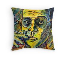 Turn Pro, Hunter S. Thompson tribute Throw Pillow