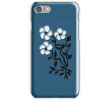 White Petal Art Flowers iPhone Case/Skin