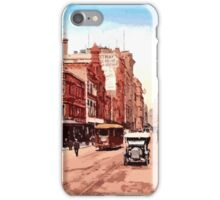 Sydney history, George Street around 1900 iPhone Case/Skin