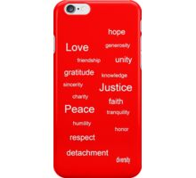 Justice - Red iPhone Case/Skin