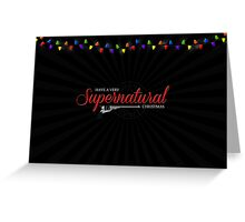 Supernatural Christmas Card Greeting Card