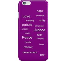 Justice - Purple iPhone Case/Skin