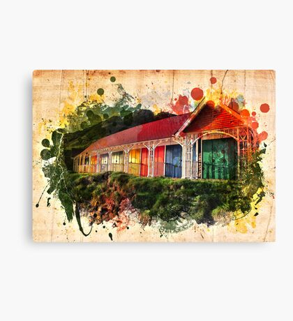Beach Huts Canvas Print