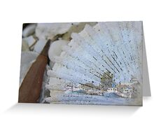 Fishing Wharf on Shell Greeting Card