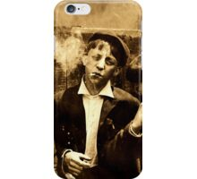 Vintage Sepia Photograph Three Boys Smoking iPhone Case/Skin