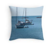 Two Yachts at anchor! Magnetic Island, North Queensland. Throw Pillow