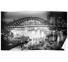 Black and White Symphony - Sydney Harbour, Australia - The HDR Experience Poster