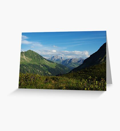 Scenery near Furkajoch, Austria Greeting Card