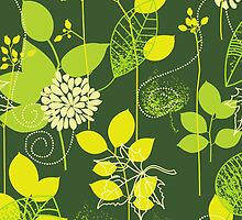 Foliage Lemon & Lime [iPhone / iPod Case and Print] by Damienne Bingham