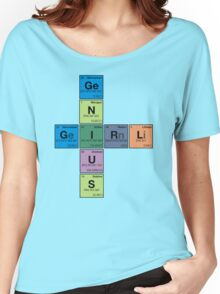 GIRL GENIUS! Periodic Table Scrabble Women's Relaxed Fit T-Shirt