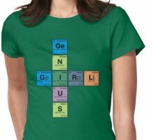 GIRL GENIUS! Periodic Table Scrabble Womens Fitted T-Shirt