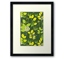 Foliage Lemon & Lime [iPhone / iPod Case and Print] Framed Print
