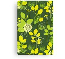 Foliage Lemon & Lime [iPhone / iPod Case and Print] Canvas Print