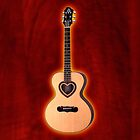 Acoustic Guitar heart v2 iphone case by goodmusic