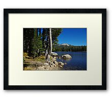 Beautiful Ice House Reservoir, California Framed Print
