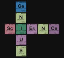 SCIENCE GENIUS! Periodic Table Scrabble T-Shirt